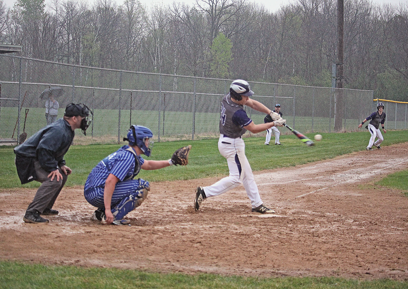 Trett Joles, Boyceville baseball gets a hit versus Glenwood City