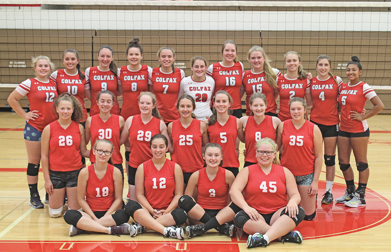 2018 Colfax volleyball team