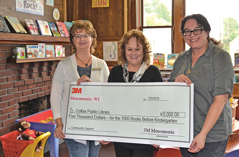 Colfax Library receives grant