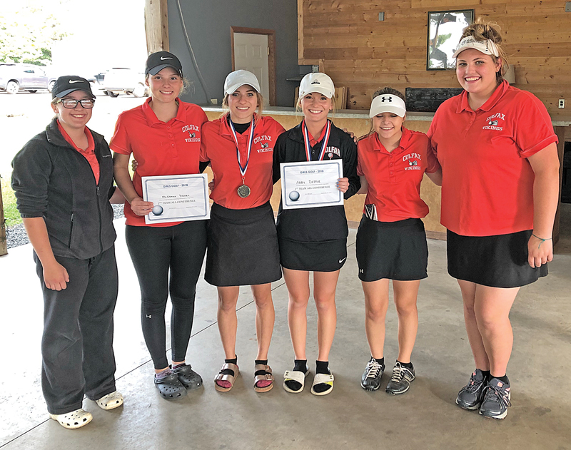Colfax girls' golf team