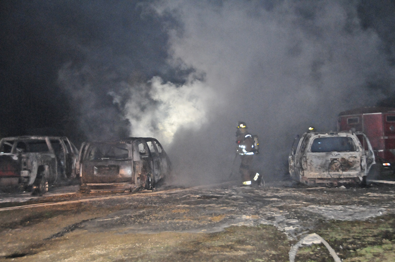 Stanton garage fire