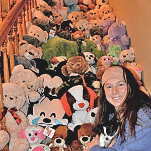 GIVING BACK — For Glenwood City local, Sara Evans, donated stuffed animals to the St. Croix County Sheriff's department this year to help spread a positive influence. —photo submitted