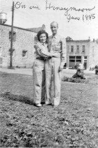 Hollis and Vergene Viets on their honeymoon in Colfax in June of 1945. —photo submitted