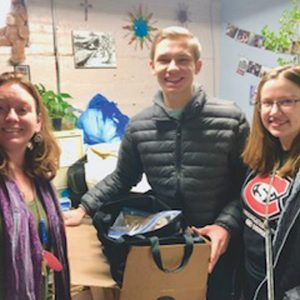 GIVING TOGETHER — The Nierenhausen family chose to give back to the community by donating to Positive Avenues this holiday season. —photo submitted