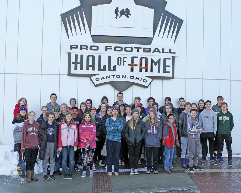 The Boyceville Science Olympiad teams traveled to Solon, OH near Cleveland. While they were there, they visited the Pro Football Hall of Fame in Canton, OH. —photo submitted