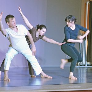 "CONTEMPORARY DANCE — BaredFeet. Co. out of Eau Claire, with the mission of bringing professional, contemporary dance to the surrounding community, performed ""Rising, Forward"" at the Colfax Municipal Building auditorium on Saturday, February 16. — Photo by LeAnn R. Ralph"