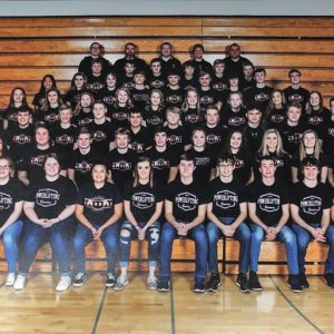ELK MOUND features over 60 powerlifters on this year's team. Above, pictured in no particular order, are the Mounders state pwoerlifting qualifiers to date: Alexis Lee, DeAnna Leon, Abby Kasper, Isabella Harmer, Bailey Gilbertson, Ashley Patterson, Laylue Kue, Nanya Kue, Devin Balts, Major Gunderson-Morris, Lane Lee, Blake Burlingame, Morgyn Hallum, Clare Hallum, Kortnee Halgren, Peyton Meyers, Dominic Hall, Jack Emberson, Bryce Ploeckelman, Dylan Hanson, Ethan Kaanta, Mason Close, Carter Brantner, Mercedes Hay, Hannah Cynor, Alyse Egan, Amanda Sahm and Hannah Caron. —photo submitted