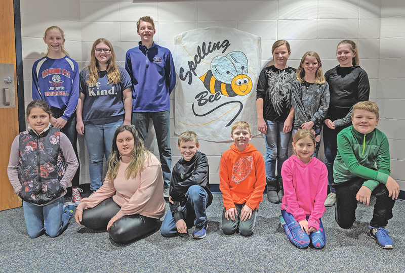 "The Glenwood City School District Annual Spelling Bee was held on February 8th, 2019. Genna Gretzlock took home the title of Champion once again, with the winning word, ""beneath"". This is Genna's 2nd consecutive time defending the title of Champion. Lydia Bennett came in as runner up, with a very intense finish, as the last two competitors battled for the Champion title for 8 rounds. Genna will now represent Glenwood City School District and compete at the Regional Spelling Bee on February 20th in Turtle Lake. Grade winners that competed are as follows: 8th Grade: Elek Anderson, Brooklyn Caress; 7th Grade: Callie Augeson, Ryeah Oehlke; 6th Grade: Genna Gretzlock, Emily Tews; 5th Grade: Lydia Bennett, Lillie McGee; 4th Grade: Preston Arvey, Charlie Bogie; 3rd Grade: Kamryn Brandt, Drew Gretzlock. —photo submitted"