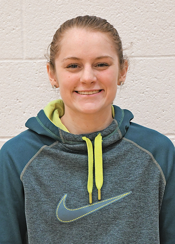 BOYCEVILLE junior Rachel Prestrud was the lone Bulldog basketball player to be named to the 2018-19 Dunn-St. Croix All-Conference girls' basketball teams. —photo by Shawn DeWitt