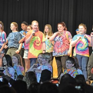 "DANCE EVOLUTION — The 6th to 8th grade choirs performed ""Dance Evolution"" during Spotlight Night at the Colfax High School Martin Anderson Gymnasium April 5. Spotlight Night is a fundraiser for music camp scholarships for Colfax students. — Photo by LeAnn R. Ralph"