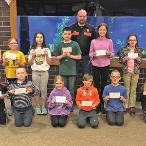 Colfax Fire Prevention Poster Contest participants