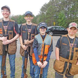 Colfax Scholastic Trap Team - Garrett Decker, Grayson Decker, Patrick Hafemann, and Jackson Moyer