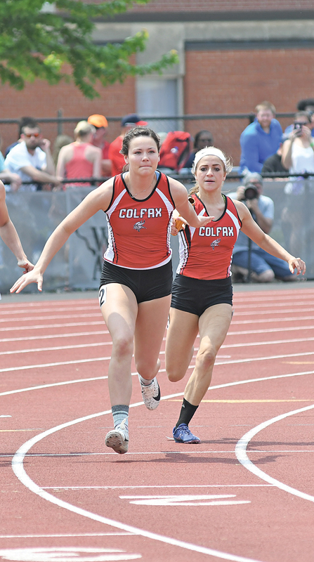 2019 State Track Friday Meet Morgan Schleusner and Samantha Pretasky