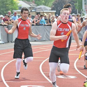2019 State Track Friday Meet Vasco Ferreira Luke Heidorn