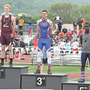 2019 State Track Saturday Meet Hadin DeSmith 3rd Place 110 High Meters
