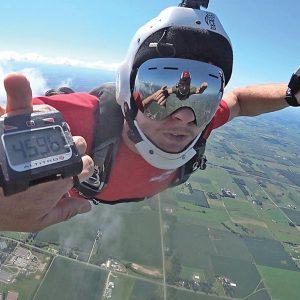 Jim Osterman skydiving photo