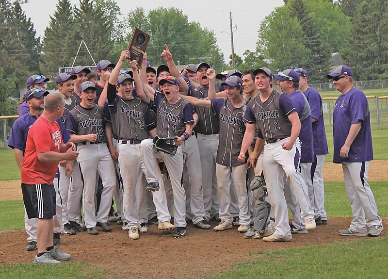BV baseball vs Regis regionals with plaque