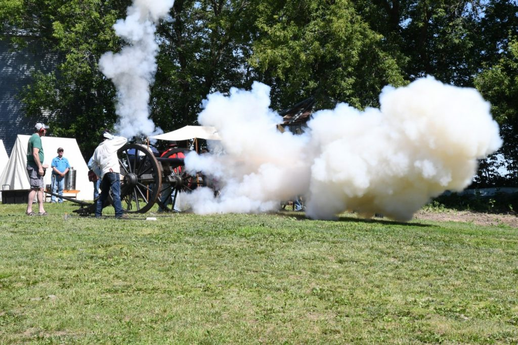 Cannons on Q - Battery I 1st US Artillery, a Minnesota non-profit, gave a Civil War demontration of Cannons Firing on Saturday, June 29, 2019 at the Dave and Joan Bartz Farm on County Road Q in rural Downing, WI.