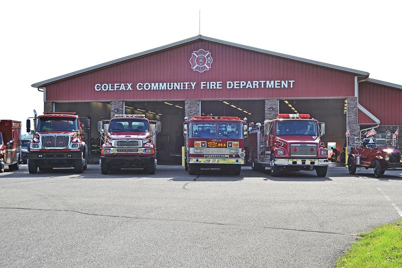 Colfax fire department open house trucks