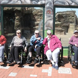 Colfax Health and Rehab residents at Irvine Park