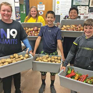 GC Students with produce