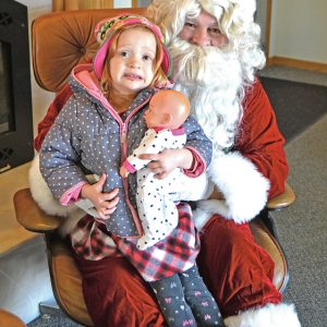 Santa at Dairy State Bank with Dalila Wantoch