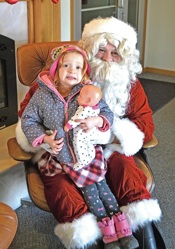 Santa at Dairy State Bank with Dalila Wantoch