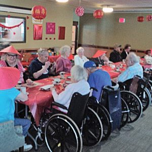 Residents at Glenhaven enjoying the Chinese New Year. —photo submitted