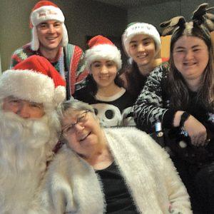 Santa and elves at Glenhaven