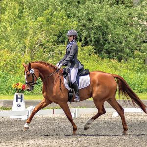 McKayla Hohmann riding horse