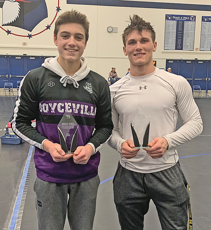 Ira Bialzik and Trett Joles wrestling awards
