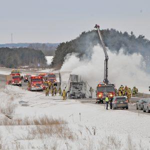 Semi Tractor Fire I94