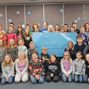 TCE 5th graders Smile Train donation