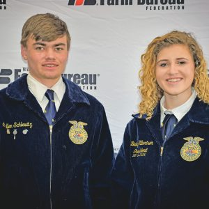 EM FFA Cullen Schlewitz and Bailey Gilbertson