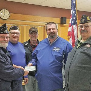 The St. Croix County American Legion donates to GC Blue Thunder programs