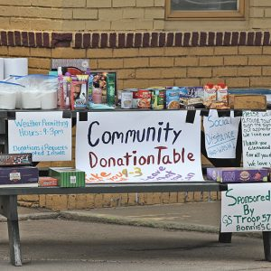Bonnie's Donation Table
