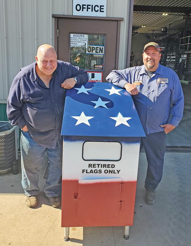 Donny Schley, Steve Rowan with flag box