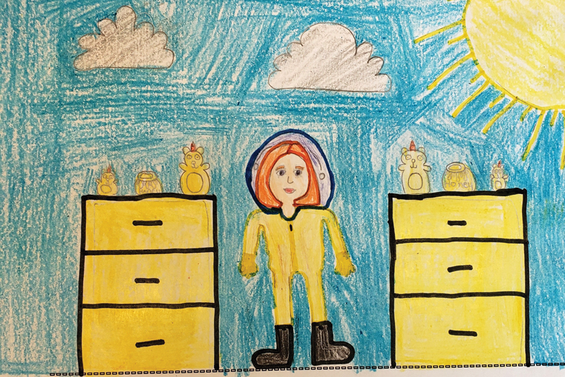 Lily's Ag in the Classroom drawing