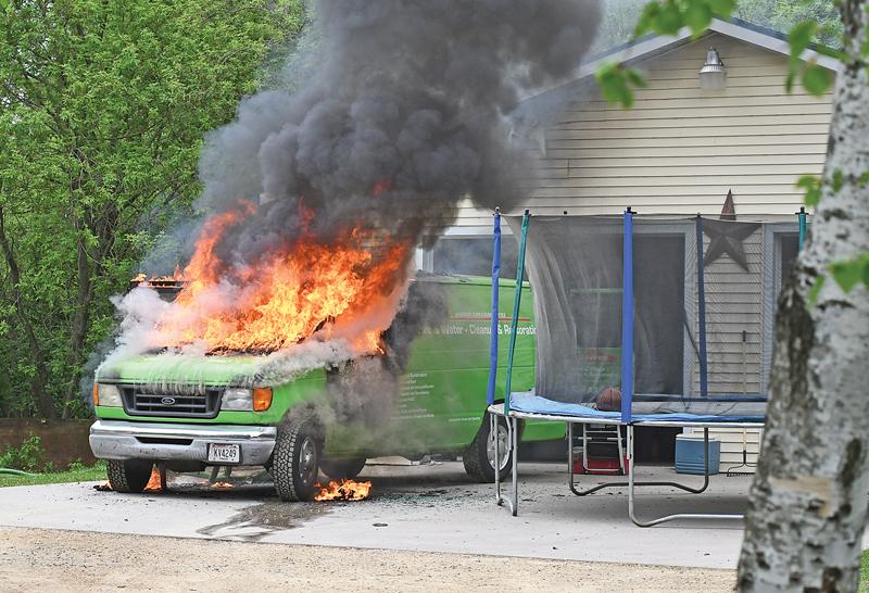 ServPro Truck Fire