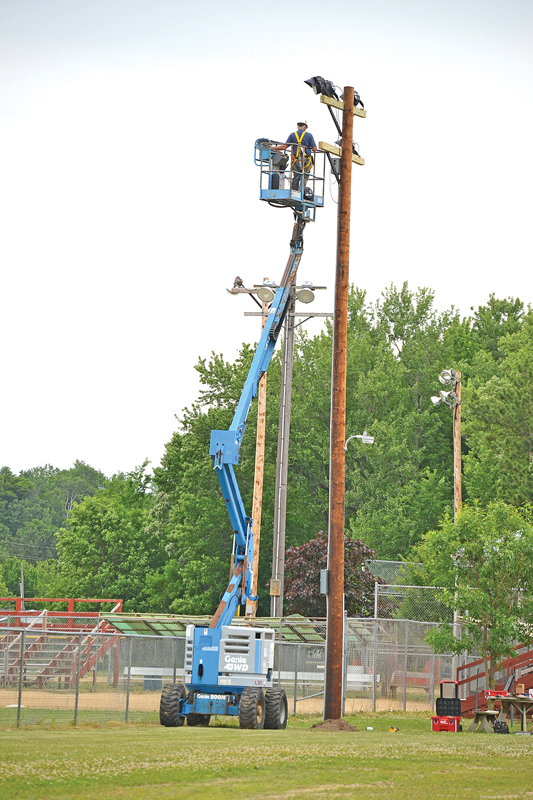 Light fixtures replaced at Tom Prince Memorial Park