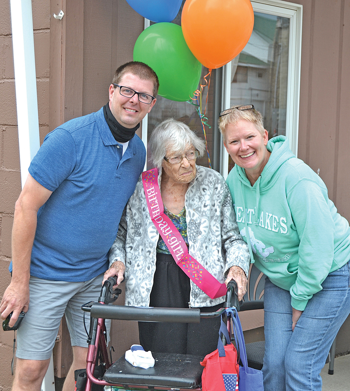 Melvina's 104th Birthday with Troy and Michelle Knutson
