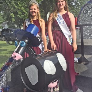 Sassy the Cow with Miss GC Court