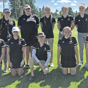 Colfax and Elk Mound Girls Golf team photo