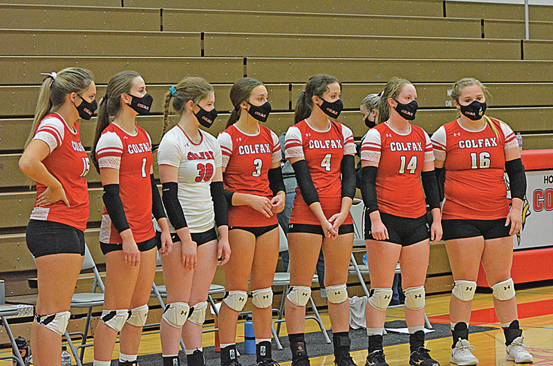 Colfax's seven seniors are honored at the end of the match Tuesday vs. Elmwood