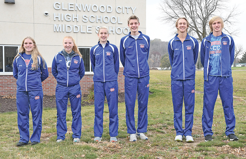 GC CC All-Conference Kinzie Strong, Kendall Schutz, Bella Simmons, Elek Anderson, JJ Williams and Austin Nelson