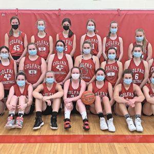 2020-21 Colfax Girls Basketball team photo