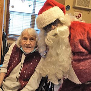 Selma and Santa make a cute couple. —photo submitted