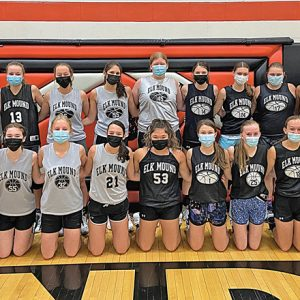 The 2020-21 Elk Mound Girls' Basketball Team
