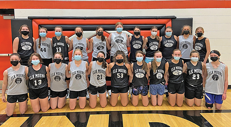 The 2020-21 Elk Mound Girls' Basketball Team