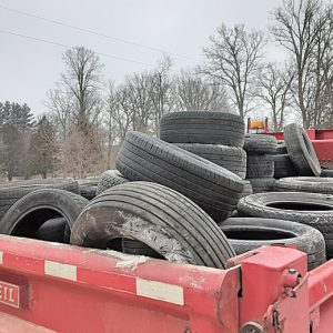 Truckload of used tires